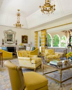 Лимонные шторы в интерьере