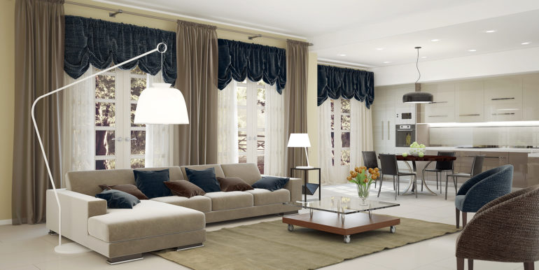 Для любителей комфорта и минимализма австрийские шторы послужат отличным способом украсить помещение