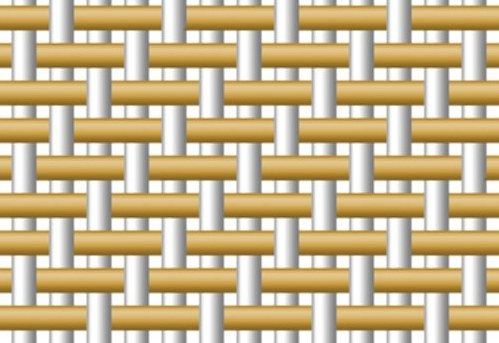 На фото схема переплетения нитей в ткани габардин