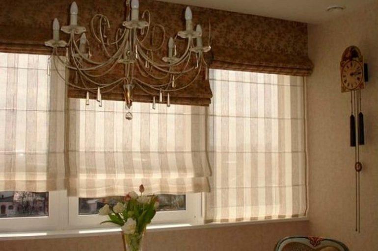 Вот так выглядят двойные модели римских штор