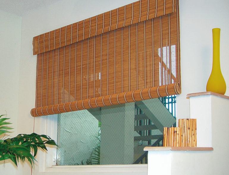 Бамбуковые ролеты добавят восточной экзотики в городской интерьер