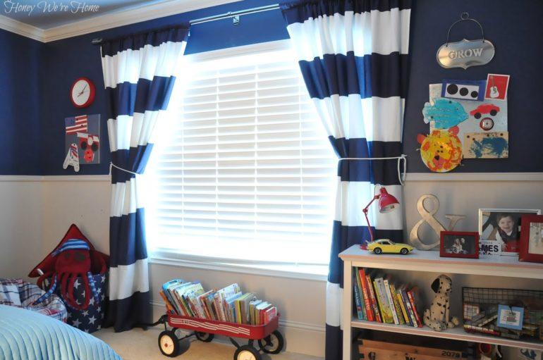 Натуральные ткани всегда являются лучшими для штор в детскую комнату, так как они пропускают воздух и не вызывают аллергических реакций
