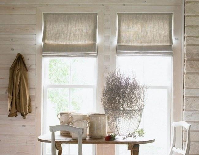 Римские шторы из мешковины это простое и стильное решение для скандинавского интерьера