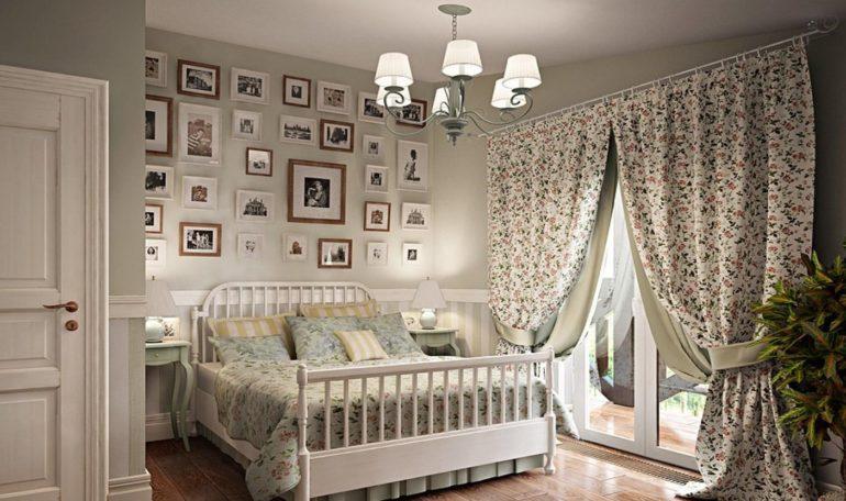 В шторах в стиле прованс вся красота кроется в самом материале и простоте кроя
