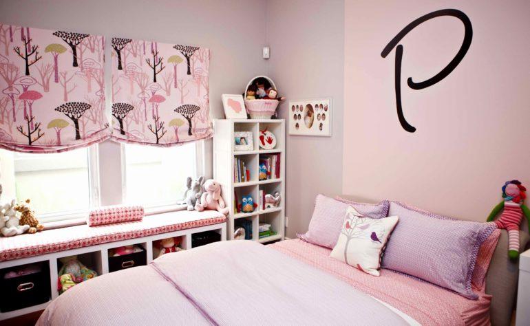 Бескаркасные римки смотрятся очень нежными и романтичными в комнате юной леди