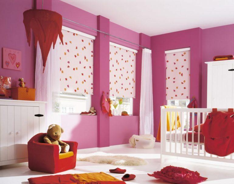 Рулонные шторы для детской активного ребенка это лучшее, что может быть