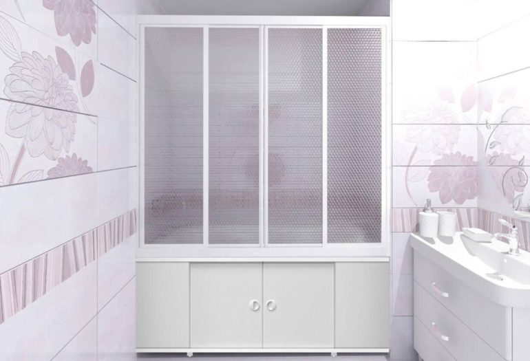 Шкафы под ванной